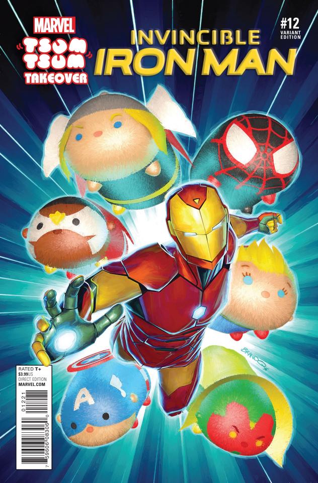 Invincible Iron Man #12 (Peterson Tsum Tsum Cover)