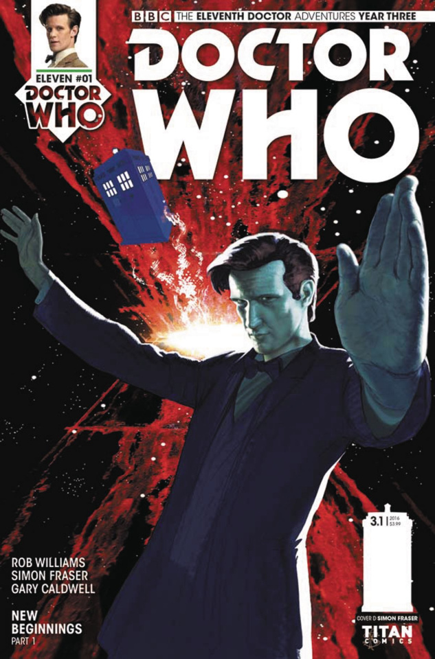Doctor Who: New Adventures with the Eleventh Doctor, Year Three #1 (Fraser Cover)