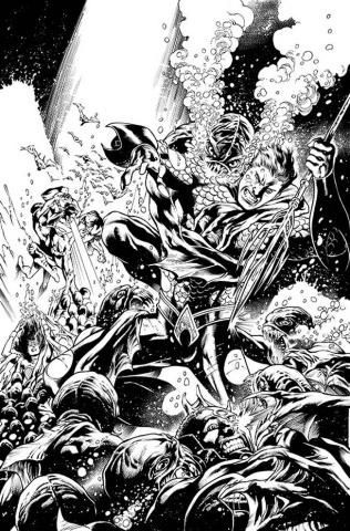 Aquaman #16 (Black & White Cover)