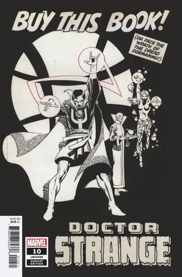 Doctor Strange #10 (Miller B&W Hidden Gem Cover)