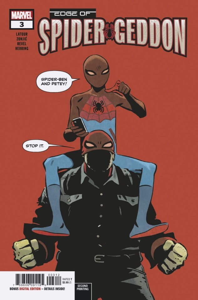 The Edge of Spider-Geddon #3 (Zonjic 2nd Printing)