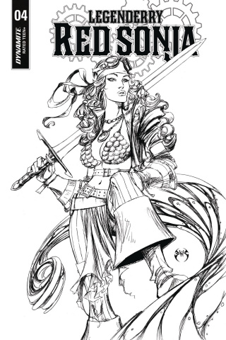 Legenderry: Red Sonja #4 (10 Copy Benitez B&W Cover)