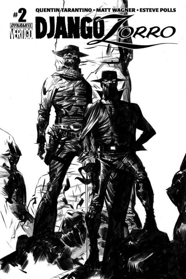 Django / Zorro #2 (50 Copy Lee B&W Cover)