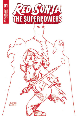 Red Sonja: The Superpowers #1 (Linsner Crimson Red Art Cover)