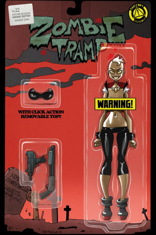 Zombie Tramp #22 (Action Figure Risque Cover)