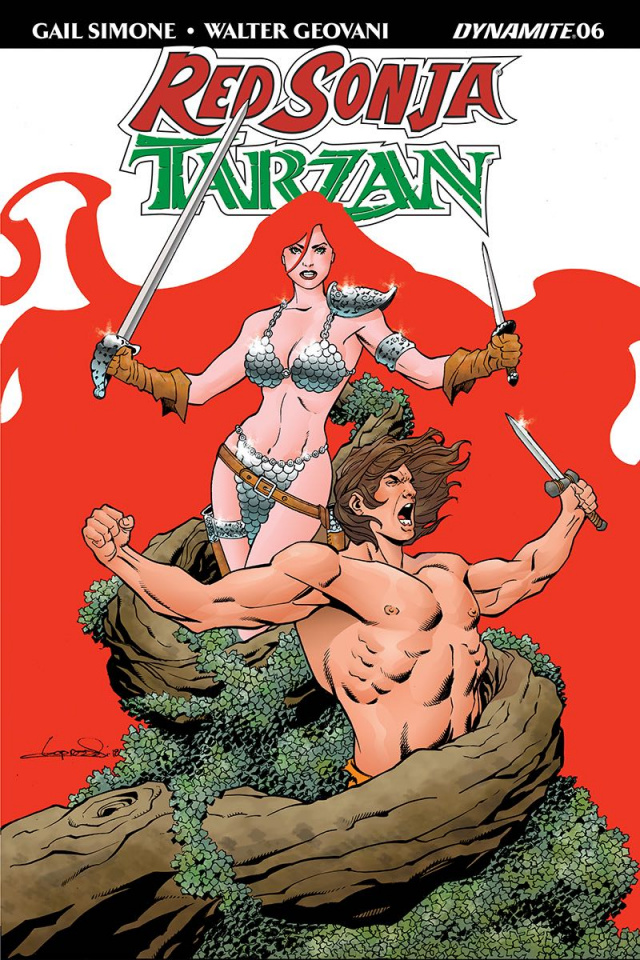 Red Sonja / Tarzan #6 (Lopresti Cover)