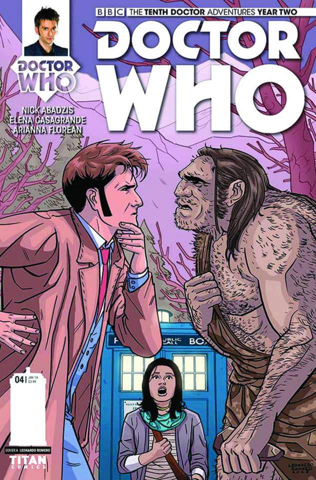 Doctor Who: New Adventures with the Tenth Doctor, Year Two #4 (Romero Cover)