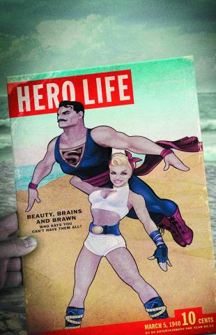 Action Comics #43 (Bombshells Cover)