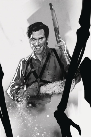 Death to the Army of Darkness #5 (15 Copy Oliver B&W Virgin Cover)