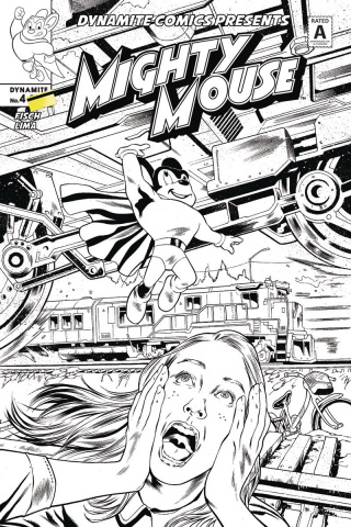 Mighty Mouse #4 (10 Copy Lima B&W Cover)