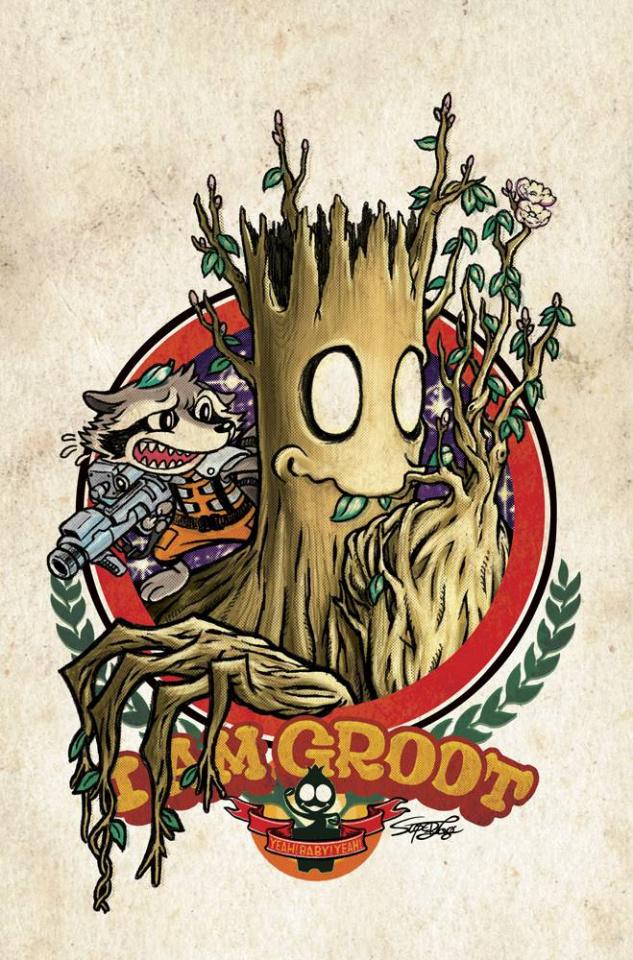 Groot #3 (Superlog Manga Cover)
