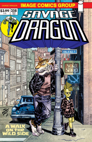 Savage Dragon #258 (Retro '70s Trade Dress Cover)