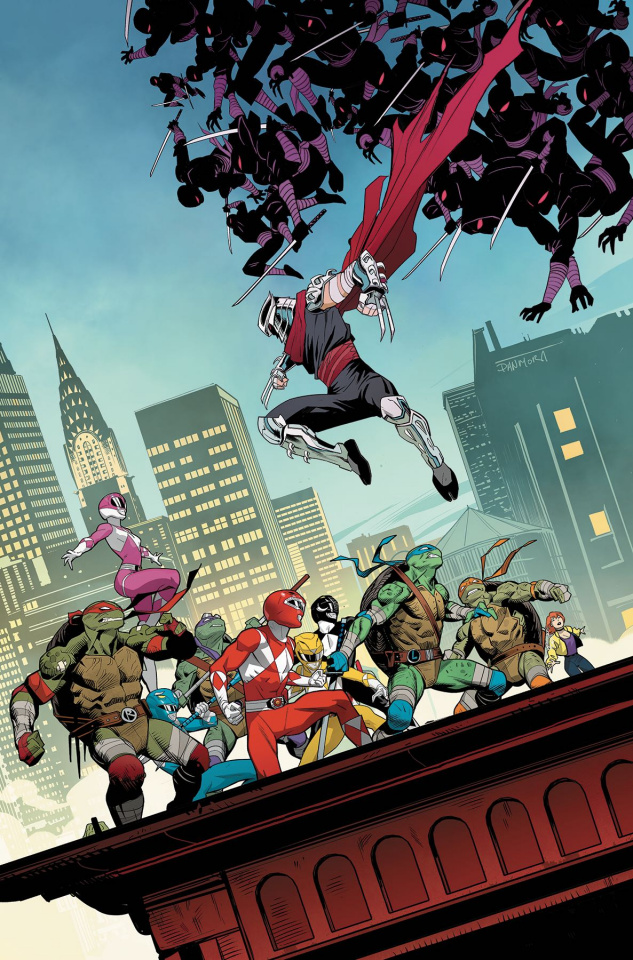Power Rangers / Teenage Mutant Ninja Turtles #4 (Mora Cover)