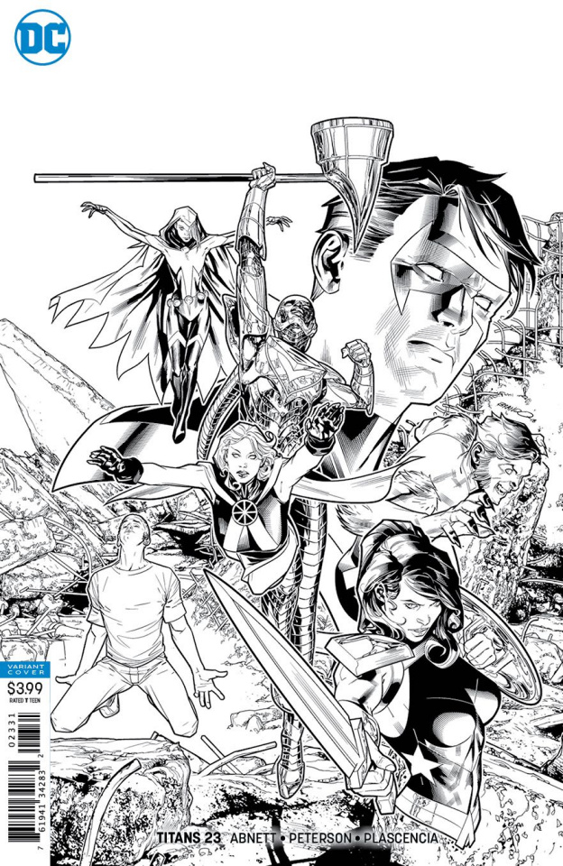 Titans #23 (Black and White Cover)