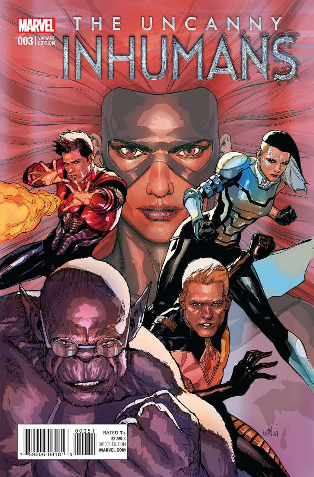 The Uncanny Inhumans #3 (Yu Cover)