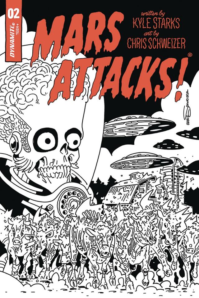 Mars Attacks #2 (40 Copy Schweizer B&W Cover)