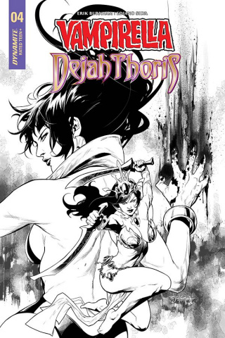 Vampirella / Dejah Thoris #5 (25 Copy Segovia B&W Cover)