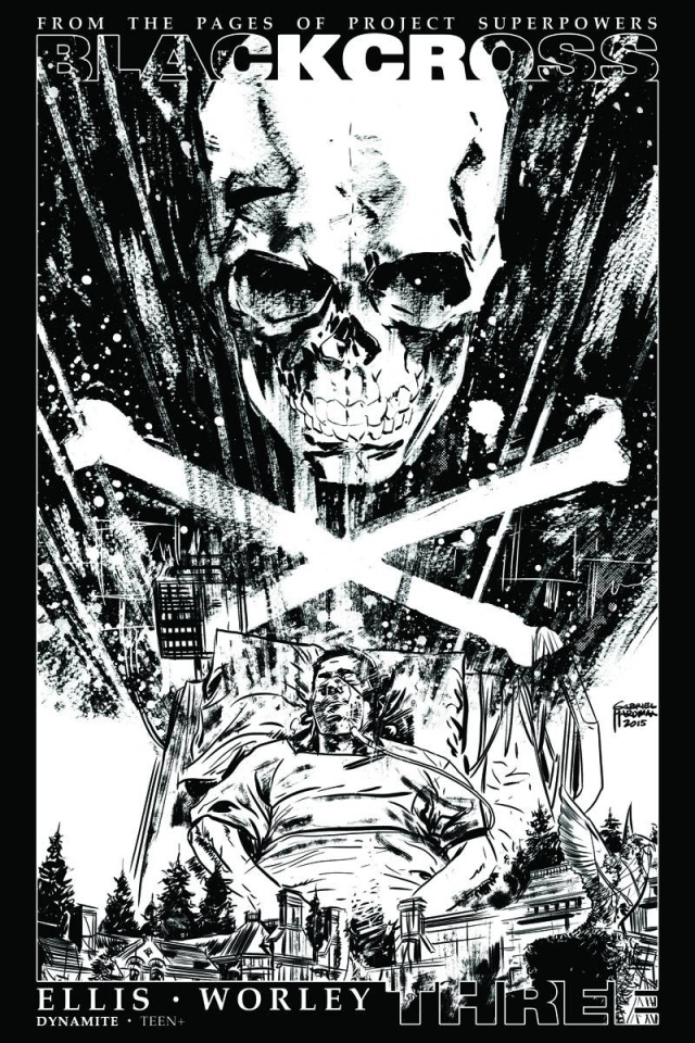 Blackcross #3 (35 Copy Hardman B&W Cover)