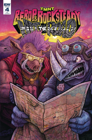 Teenage Mutant Ninja Turtles: Bebop and Rocksteady Hit the Road #4 (10 Copy Cover)