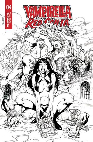 Vampirella / Red Sonja #4 (7 Copy Castro B&W Cover)