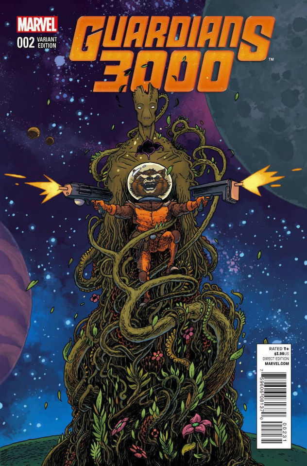 Guardians 3000 #2 (Rocket Raccoon & Groot Bertram Cover)