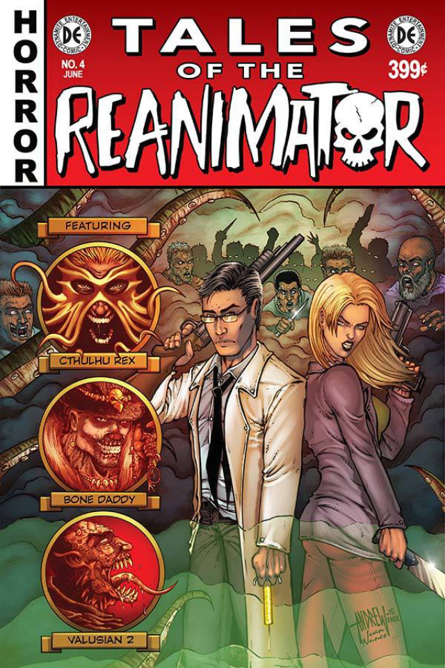 Reanimator #4 (10 Copy Mangum B&W Cover)