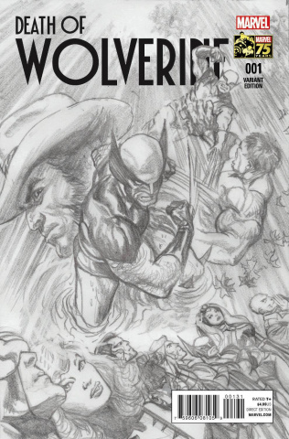 Death of Wolverine #1 (Ross Sketch 75th Anniversary Cover)