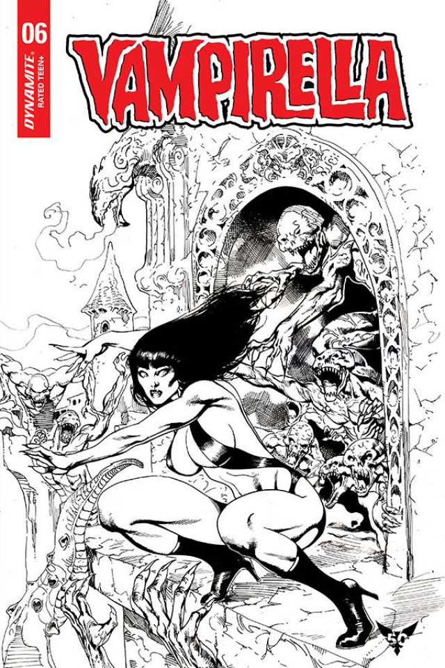 Vampirella #6 (7 Copy Castro B&W Cover)