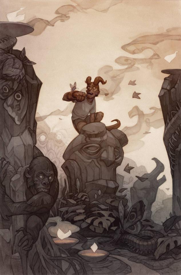 Young Hellboy: The Hidden Land #3 (Beckert Cover)