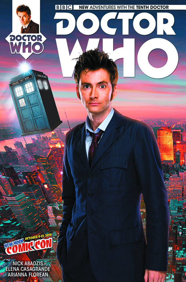 Doctor Who: New Adventures with the Tenth Doctor #1 (NYCC Cover)