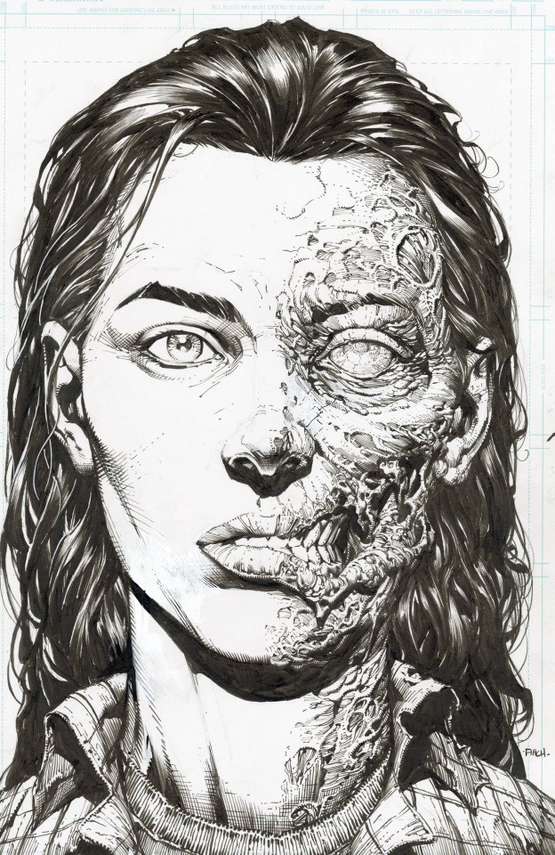 The Walking Dead Deluxe #3 (Finch & McCaig 25 Copy Raw Cover)