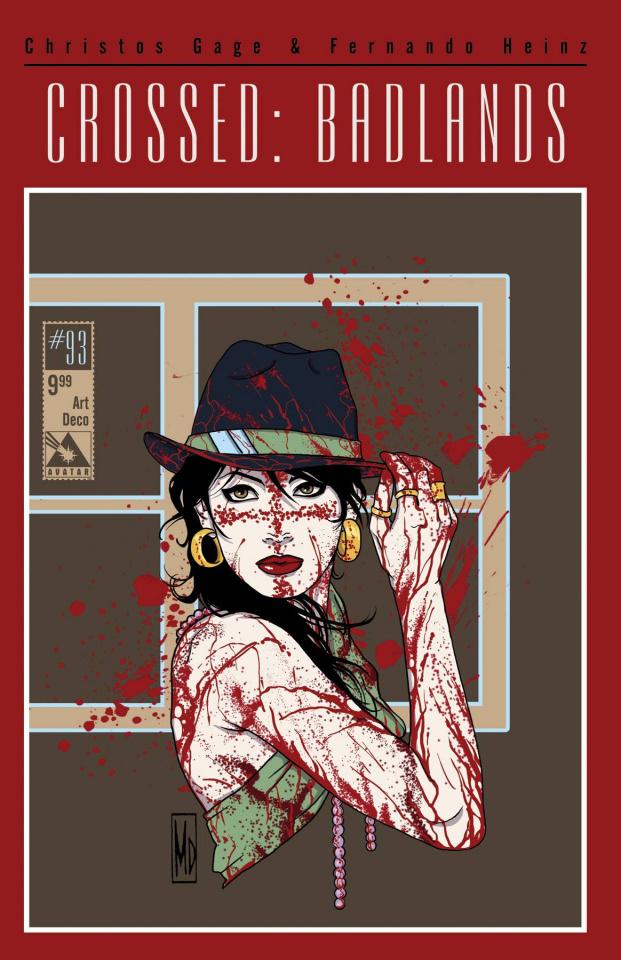 Crossed: Badlands #93 (Art Deco Cover)