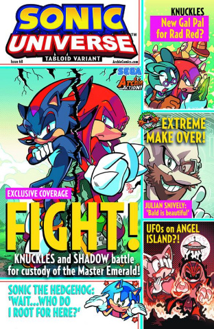 Sonic Universe #68 (Tabloid Cover)