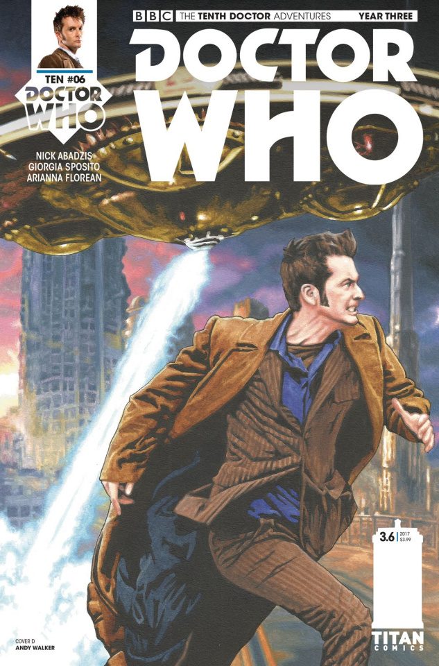 Doctor Who: New Adventures with the Tenth Doctor, Year Three #6 (Walker Cover)