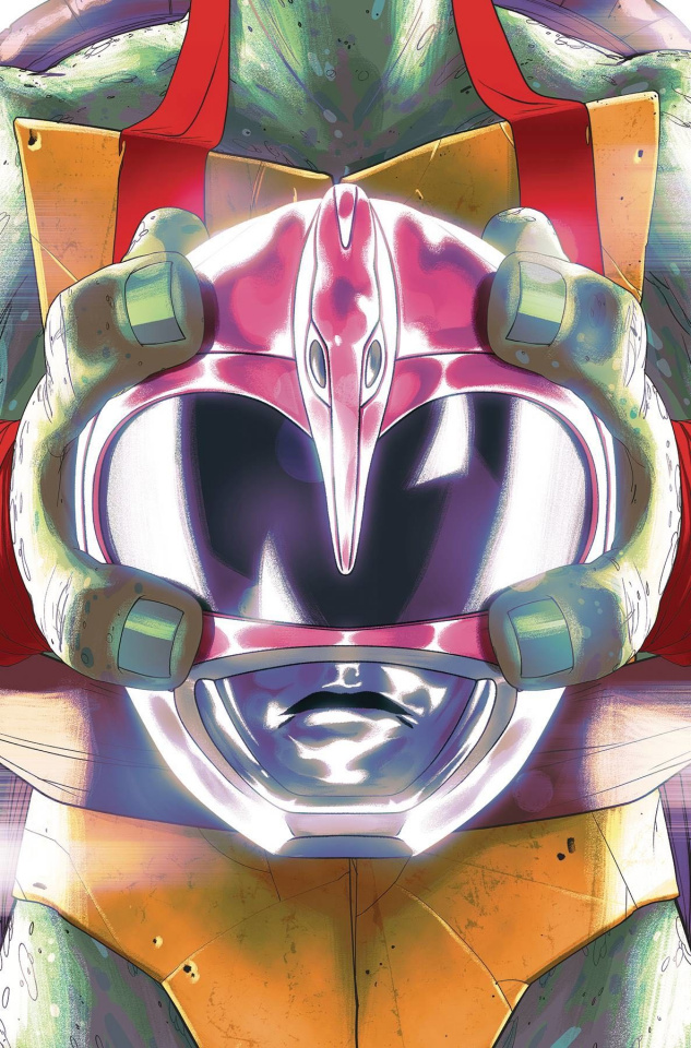 Power Rangers / Teenage Mutant Ninja Turtles #4 (Don Montes Cover)