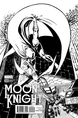 Moon Knight #200 (Sienkiewicz Remastered B&W Cover)