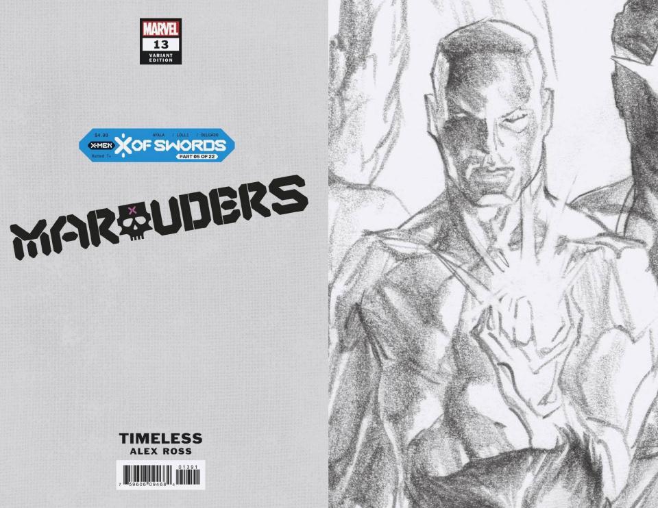 Marauders #13 (Alex Ross Iceman Timeless Virgin Sketch Cover)