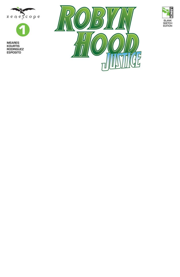 Robyn Hood: Justice #1 (Blank Sketch Cover)