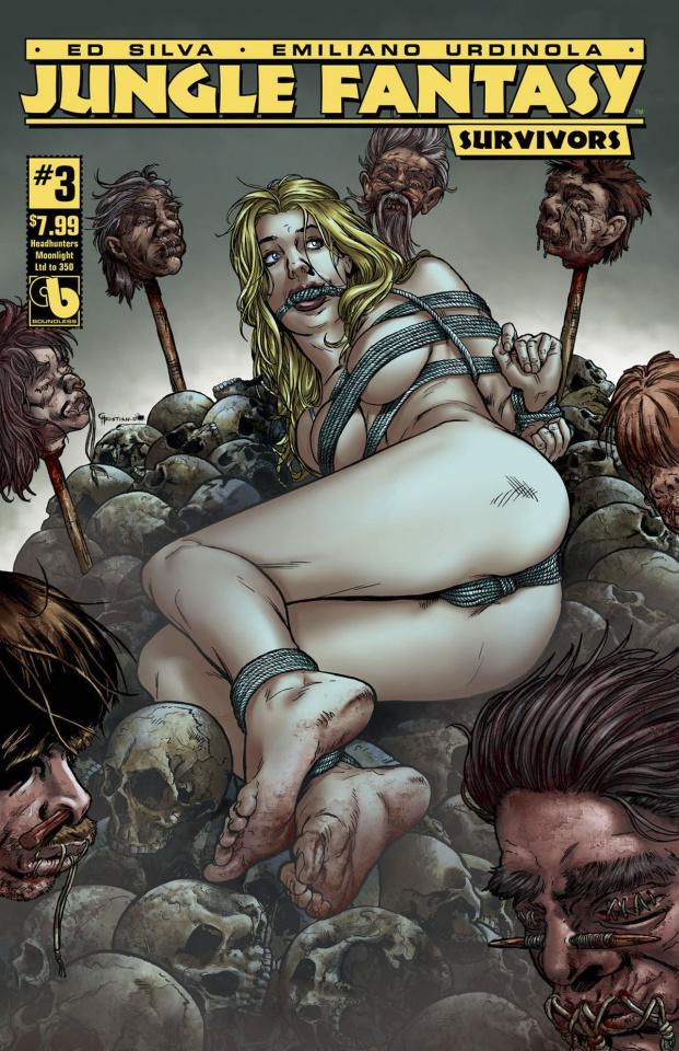 Jungle Fantasy: Survivors #3 (Head Hunters Moonlight Cover)