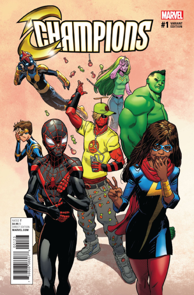 Champions #1 (Hawthorne Deadpool Cover)