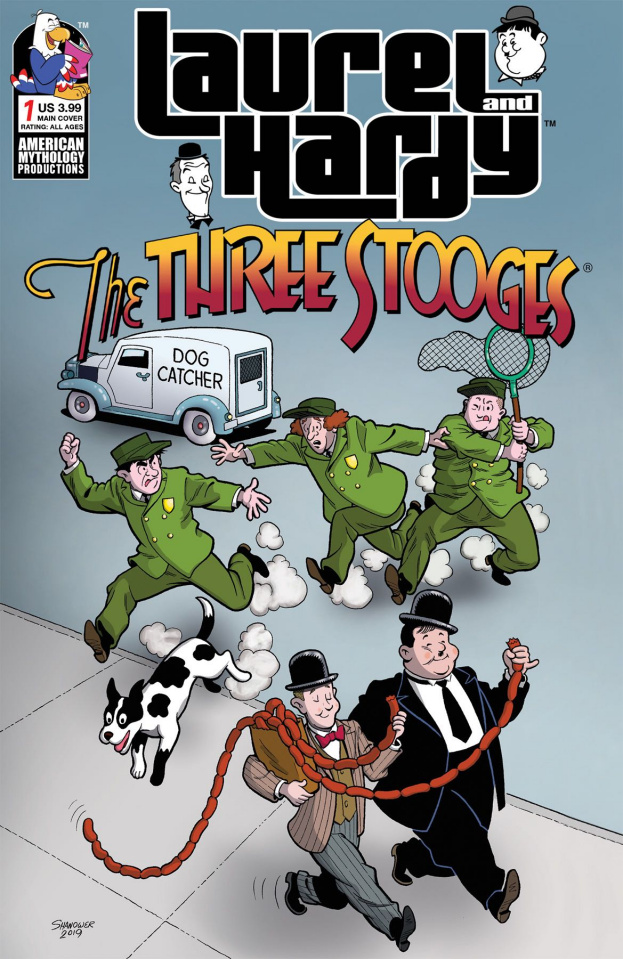 Laurel and Hardy Meet The Three Stooges #1 (Shanower Cover)