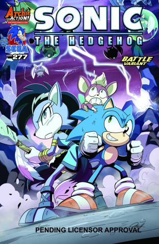 Sonic the Hedgehog #277 (Hesse Cover)