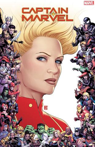 Captain Marvel #9 (Christopher Marvel 80th Anniversary Frame Cover)