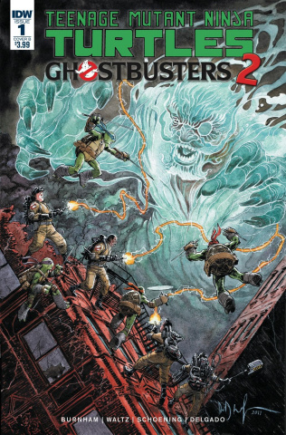 Teenage Mutant Ninja Turtles / Ghostbusters 2 #1 (Wachter Cover)