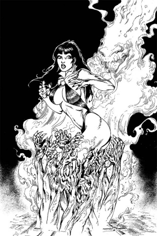 Vengeance of Vampirella #7 (15 Copy Castro B&W Virgin Cover)