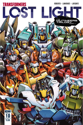 The Transformers: Lost Light #10 (Lawrence Cover)