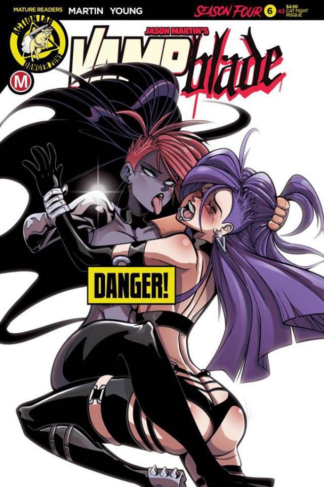 Vampblade, Season Four #6 (Amalgama Cat Fight Risque Cover)