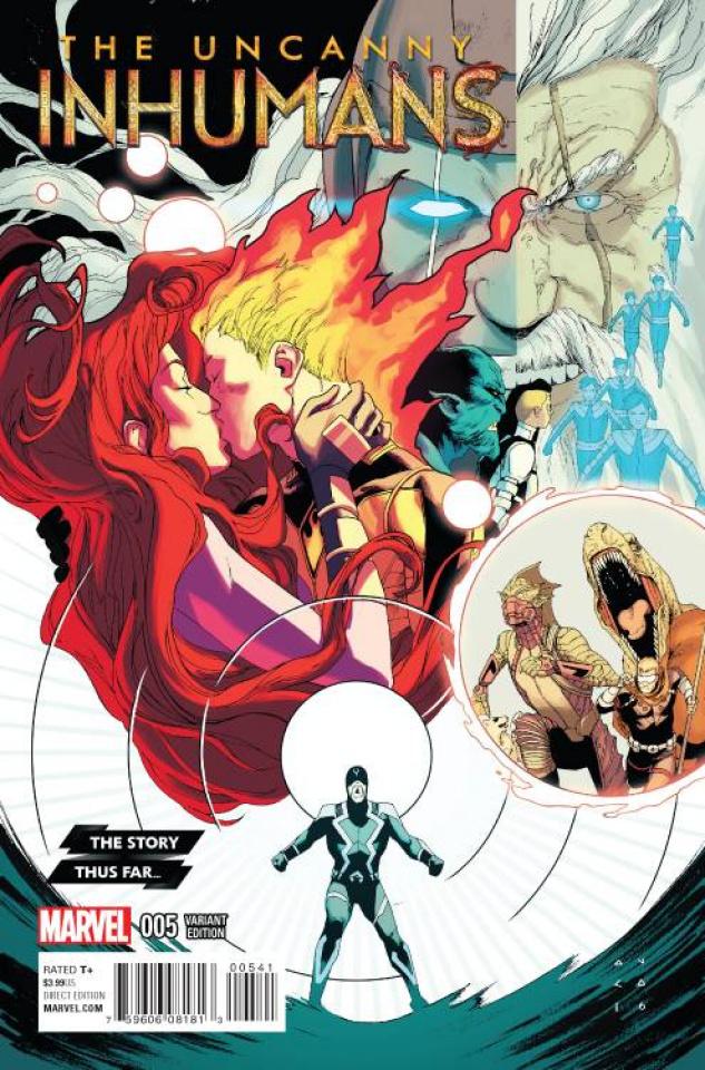 The Uncanny Inhumans #5 (Anka Story Thus Far Cover)