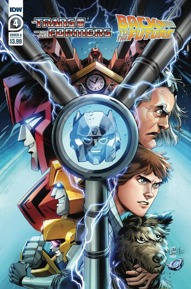 The Transformers / Back to the Future #4 (Juan Samu Cover)