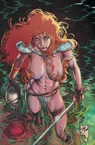 Red Sonja #21 (21 Copy Conrad Risque Virgin Cover)